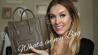 WHATS IN MY BAG - CELINE NANO LUGGAGE TOTE REVIEW