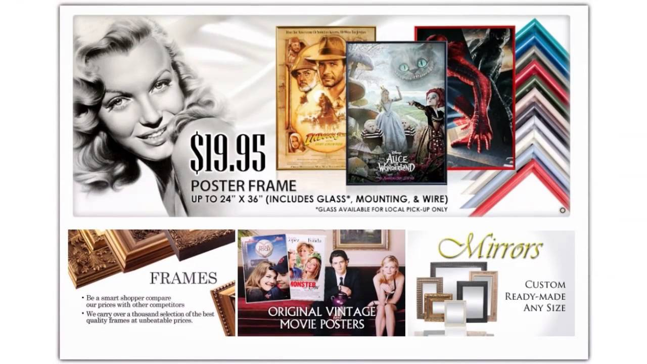 Quick Art Frame: Custom Framing Los Angeles - YouTube