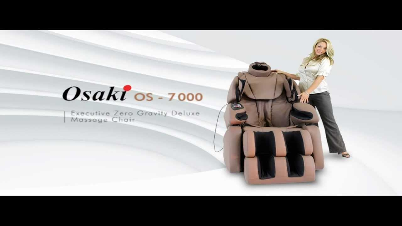 Osaki 7075r Massage Chair Wooden Desk Chairs Os Video Youtube