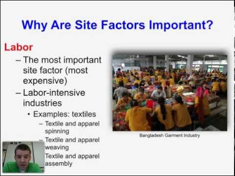 HuGeo - Site and Situation Factors of Industry