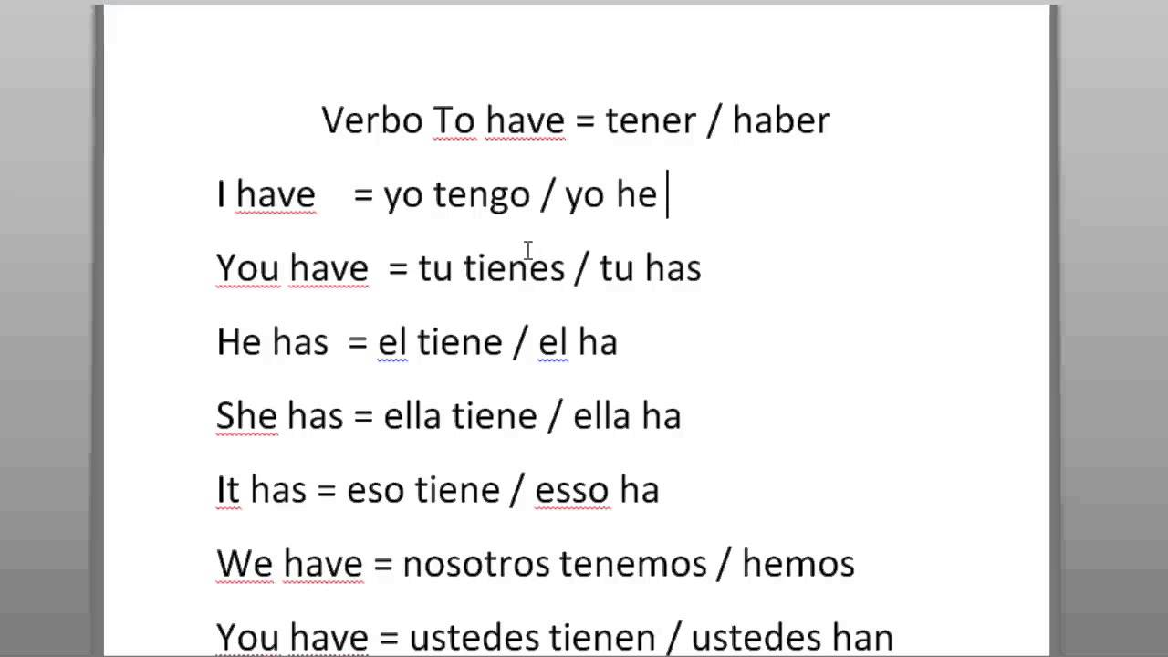 Ingles Clase 03 Verbo To Have Have Got Youtube
