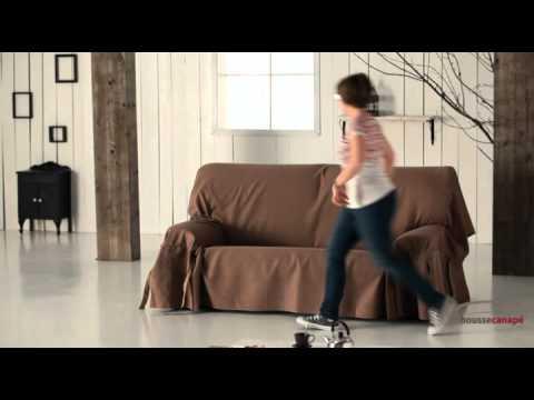 Housse pour canap avec lacets ajustables  YouTube
