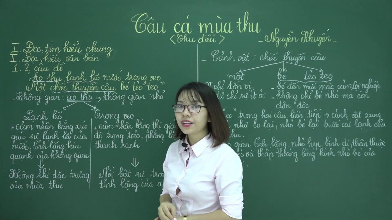 Câu cá mùa thu – Văn lớp 11 – Cô Nguyễn Hương Xuân hocthukhoa.vn