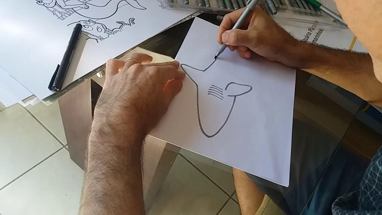 Huber ensina : como desenhar um tubarão