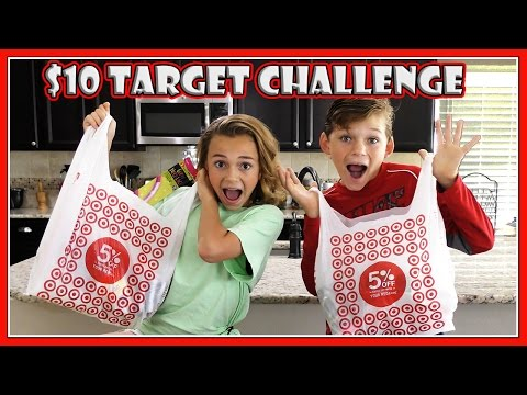 10 DOLLAR TARGET CHALLENGE | We Are The Davises