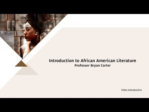 Introduction To African American Literature - Bryan Carter