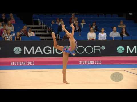Kyriaki ALEVROGIANNI (GRE) 2015 Rhythmic Worlds Stuttgart - Qualifications Clubs