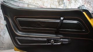 A Car Door-Panel in Leather - Auto Upholstery