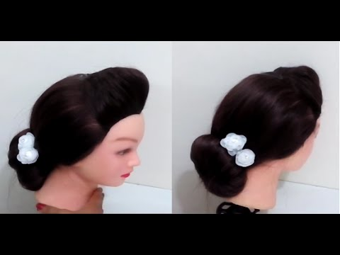 Easy Low Bun Loose Bun Hairstyle Youtube