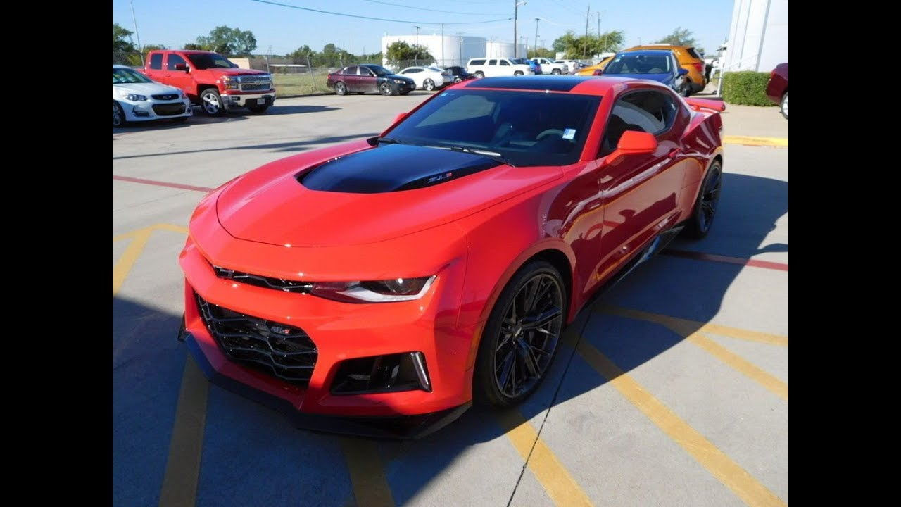 Brand New 2018 Chevrolet Zl1 Camaro Coupe Red Hot 801