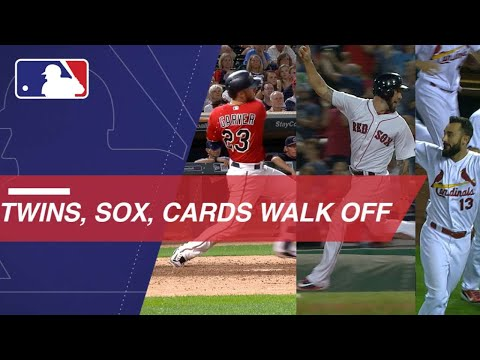 Twins, Red Sox and Cardinals enjoy walk-off victories