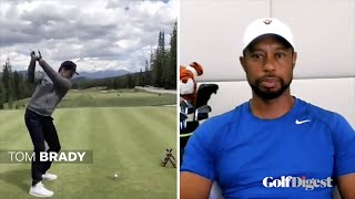 Tiger Woods Critiques Tom Brady and Peyton Manning's Golf Swings