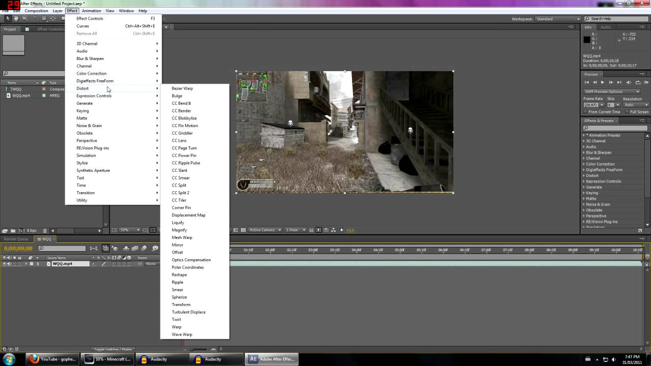 how to add motion blur after effects