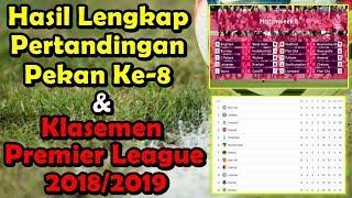 Hasil Lengkap Pertandingan Pekan ke-8 dan Klasemen Sementara Premier League 2018/2019