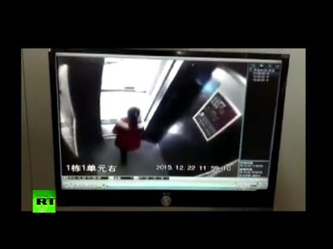 YOUTUBE: Bambina esce salva dall'ascensore per miracolo