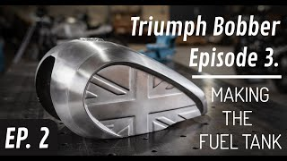 Making of union jack style fuel tank | Triumph Bobber Episode 3.