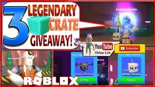 Roblox Mining Simulator Gameplay! 32 CODES! 3 LEGENDARY CRATE SKIN GIVEAWAY siehe desc