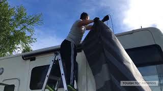 Changing the fabric on a Carefree of Colorado electric patio awning