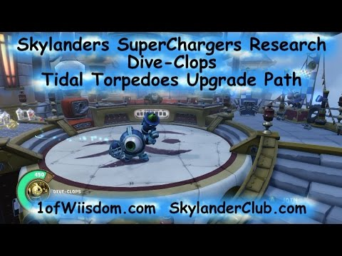 Skylanders SuperChargers Research: Dive-Clops Tidal Torpedoes Upgrade Path