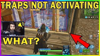 SYPHERPK'S TRAP BUGGES OUT AND TAKES 34 SEC TO ACTIVATE!! - Fortnite funny #378