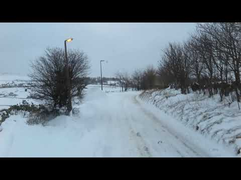 March Snow 2018 001 - Roads around JB Schofields yard at Linthwaite