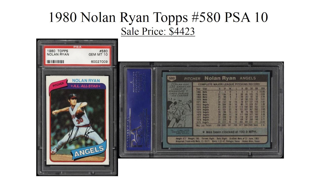 Top 5 Most Expensive Nolan Ryan Baseball Cards Sold On Ebay December 2016
