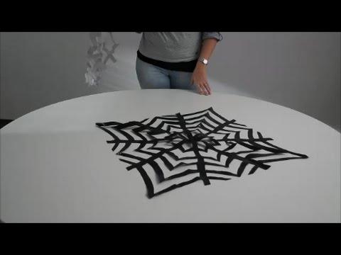 Spinnennetz Aus Einem Müllsack Basteln Youtube
