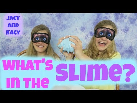 Thumbnail: What's in the Slime Challenge ~ Jacy and Kacy