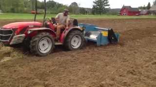 Antonio Carraro tractor spading Ski Hearth Farm fields