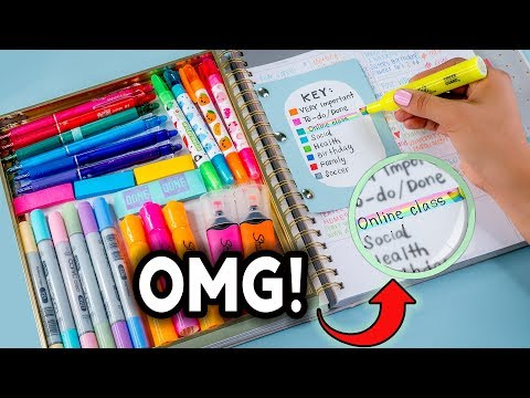 DIY STUDY HACKS! How To Be PRODUCTIVE After School + Study T
