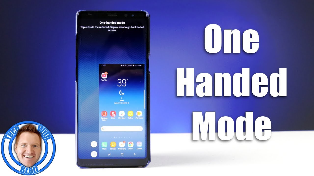 One-Handed Mode on Galaxy Note 8, S8, S8+