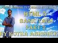 Html basic tags in telugu || Break Tag || Pre Tag || Code Tag