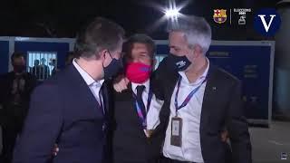El gesto aplaudido por el barcelonismo: el abrazo de los tres candidatos