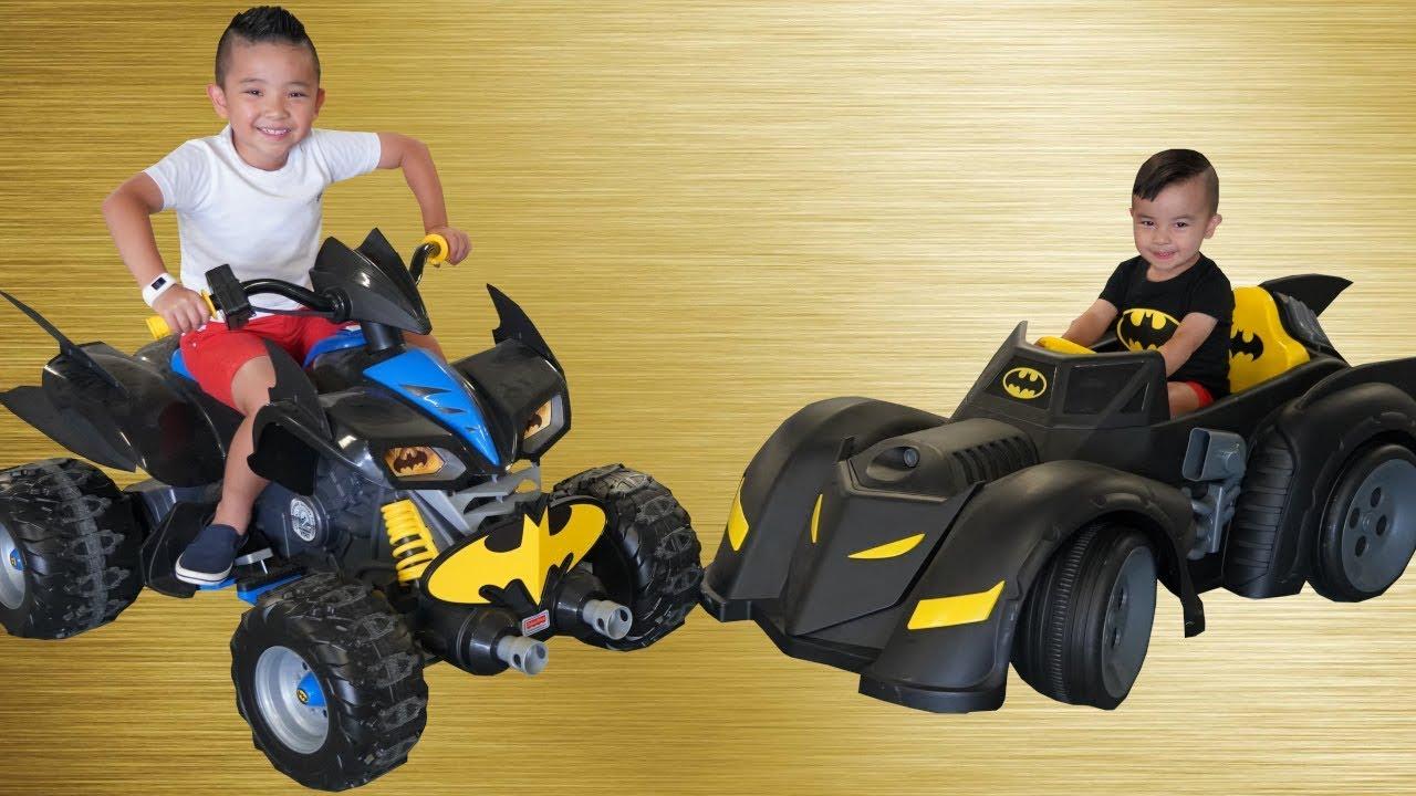 Batmobile Bat Bike Ride On Cars kids Racing Fun With Ckn Toys