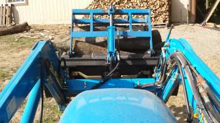 LS tractor homemade grapple 2