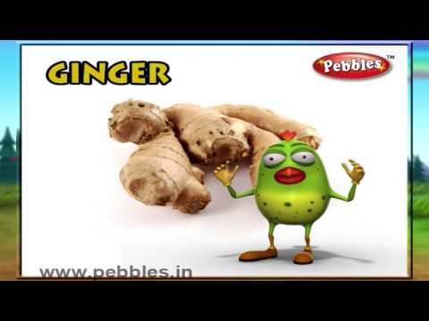 Ginger Rhyme | Nursery Rhymes With Lyrics For Kids | Vegetable Rhymes | Rhymes 3D Animation