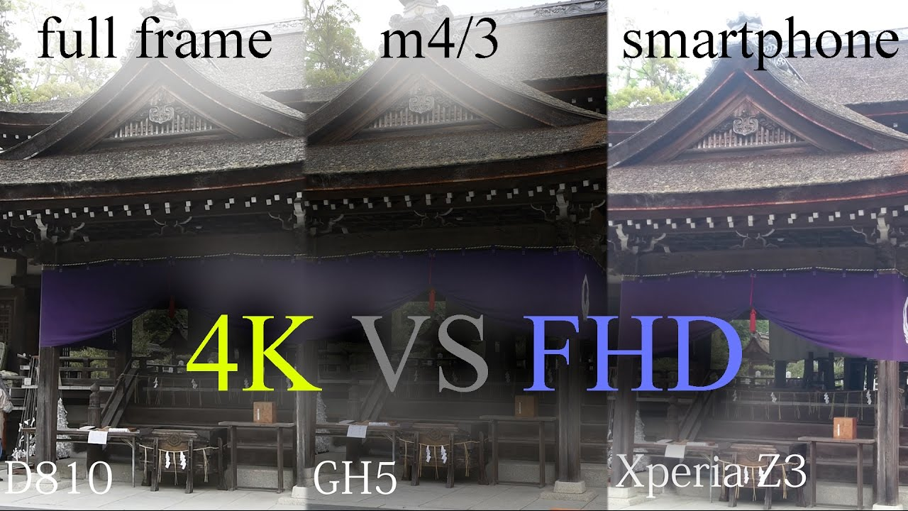 Full-frame vs M4/3 vs Smartphone @4K - YouTube