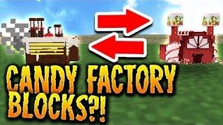 CANDY FACTORY MINI-BLOCKS IN MINECRAFT?!