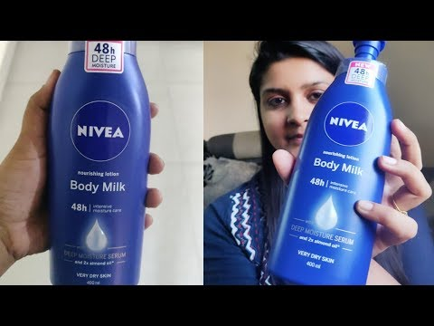 Nivea Nourishing body milk lotion for Very Dry skin with almond oil |Review