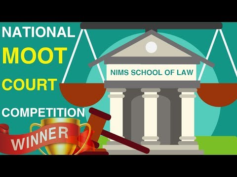 Law Students Wins - National Moot Court Competition 2019 in Jaipur | Nims University Jaipur