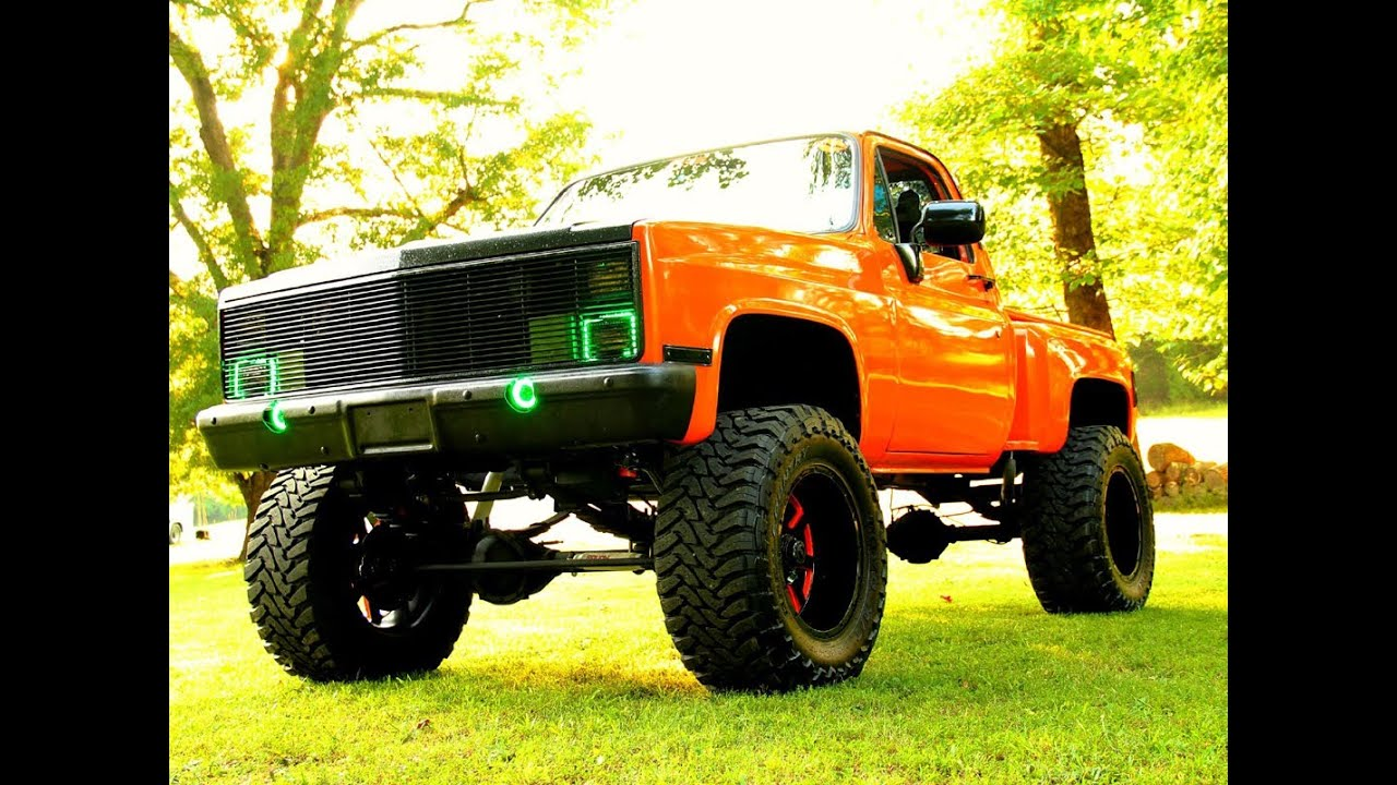 1988 Fully Custom Chevrolet K1500 Step Side Pick Up Show Truck 24x12 Fuels 37 034 956597 also Watch in addition Watch together with 100380875 also Watch. on k1500 stepside lifted