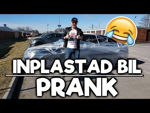 Inplastad Bil Prank