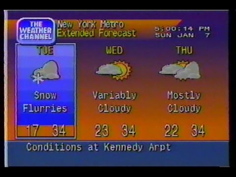 01071996 458pm New York City Weather Star 4000 Local