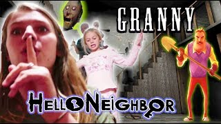 Granny and Hello Neighbor Together in REAL LIFE!