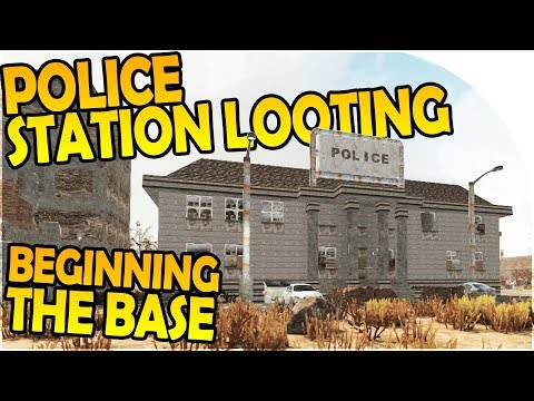 CITY POLICE STATION LOOTING - STARTING the BASE - 7 Days to Die Alpha 16 Gameplay Part 2 (Season 2)