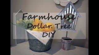 DOLLAR TREE DIY // FARMHOUSE DECOR //