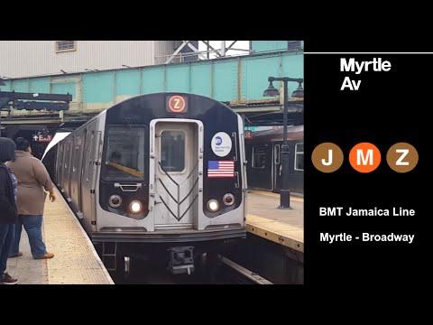 BMT Jamaica Line: R32, R42, R143 & R160 (J/Z) (M) at Myrtle-Broadway