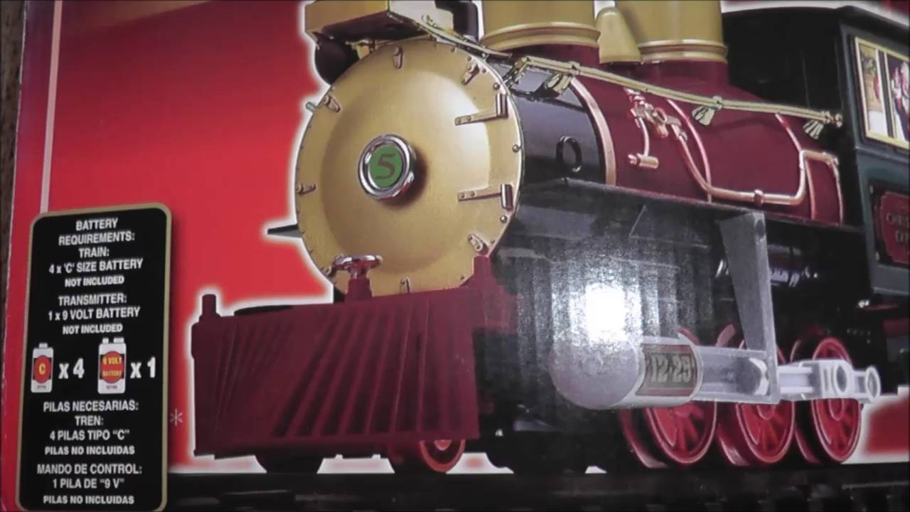 Eztec G North Pole Express Christmas Train Set Wireless Control Forward Reverse Youtube