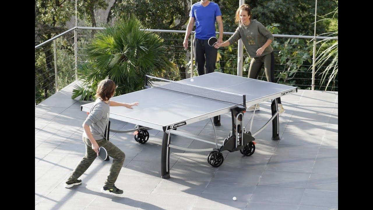 OUTDOOR TABLE TENNIS TABLE CORNILLEAU 500M CROSSOVER ENG - YouTube 30cf60e45a42