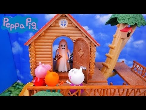 The Hunted Tree House- A Peppa Pig Story - Story for kids Sylvanian Playmobil